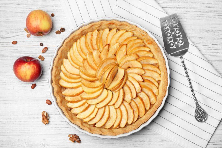 tartă simplă cu mere