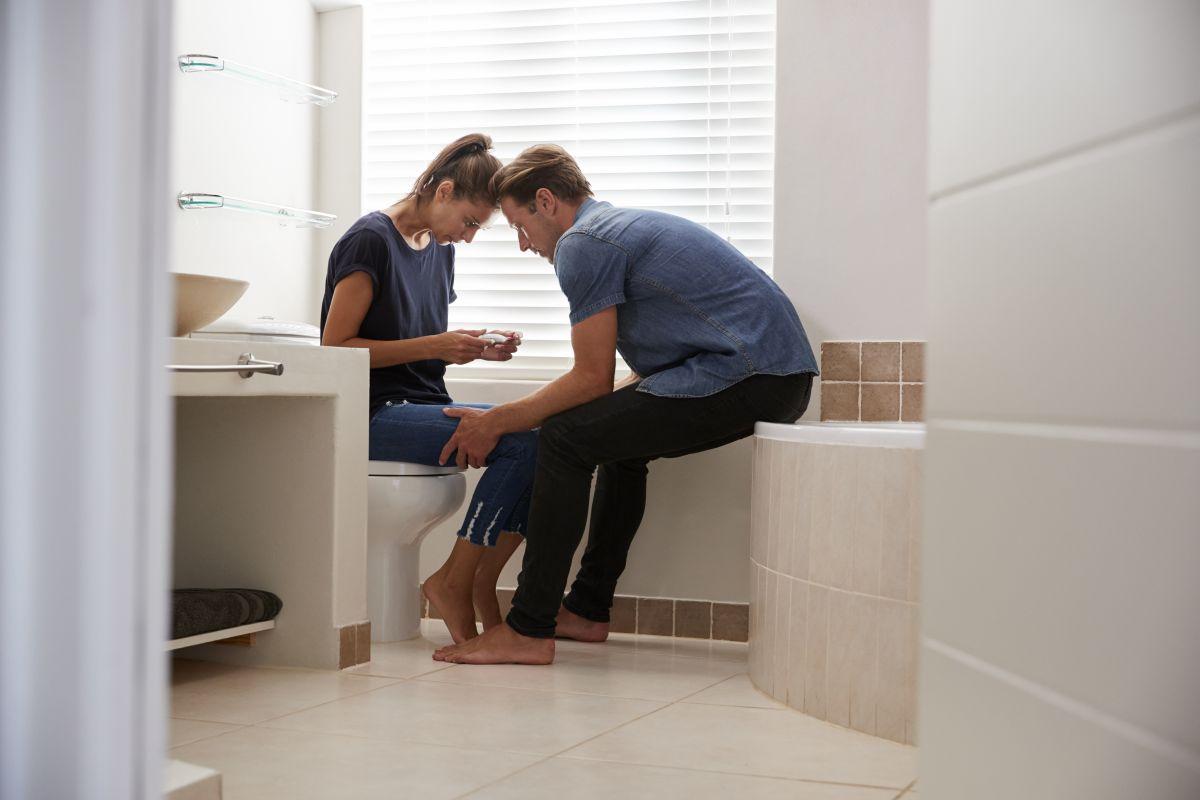 cuplu test de sarcina