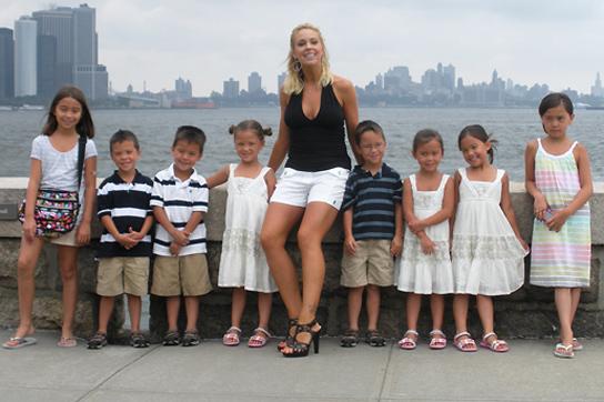 Kate Gosselin, alaturi de copii