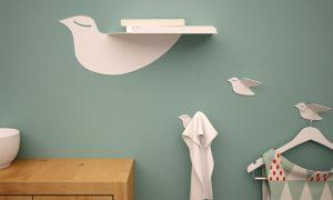 Raft si cuiere Porumbel - design Cai verzi pe pereti | Totul despre mame