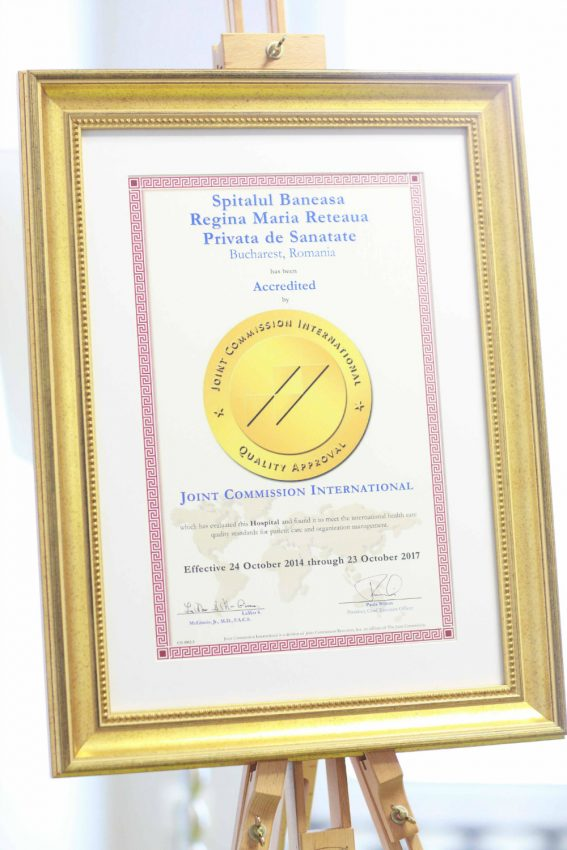 Diploma Spitalul Baneasa-Joint Commission International | Totul despre mame