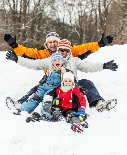 Vacanța de iarnă în familie
