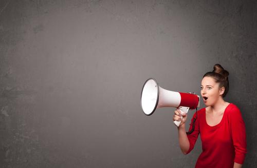 frica de a vorbi în public femeie portavoce