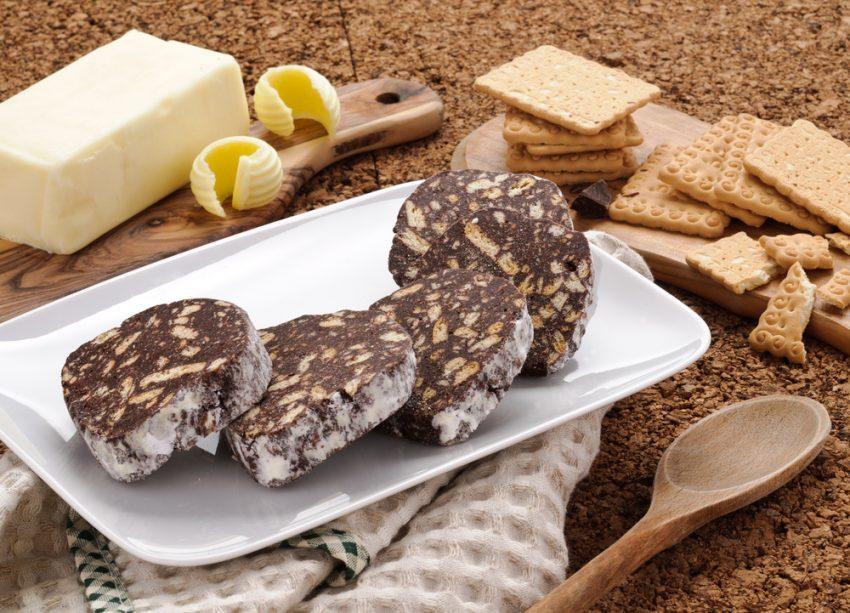 salam de biscuiți felii tavă