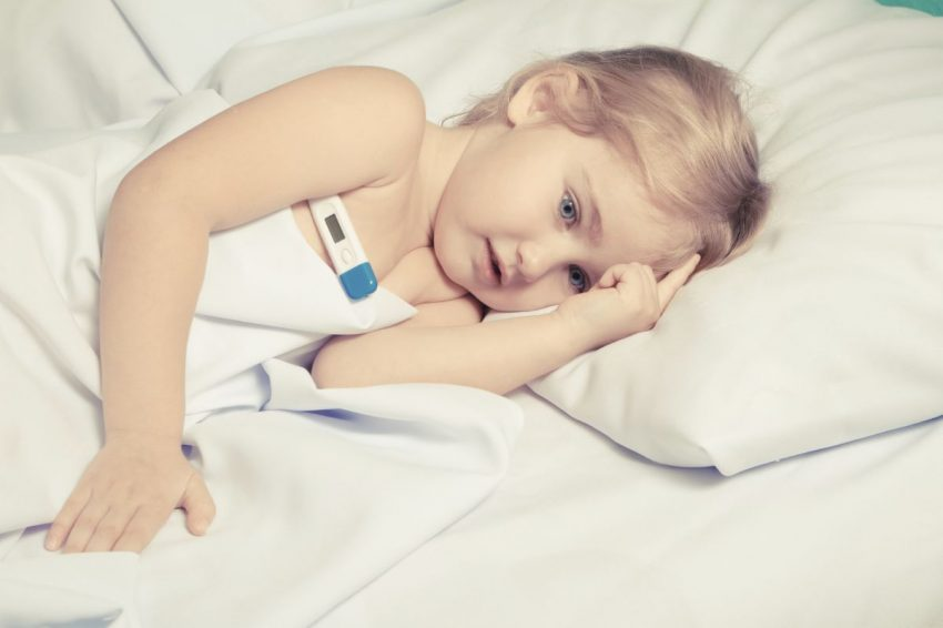febra copilului