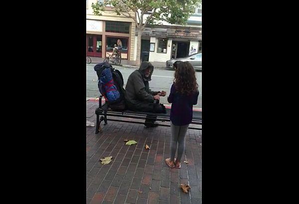 gestul-altruist al unei fetite pentru un om al străzii