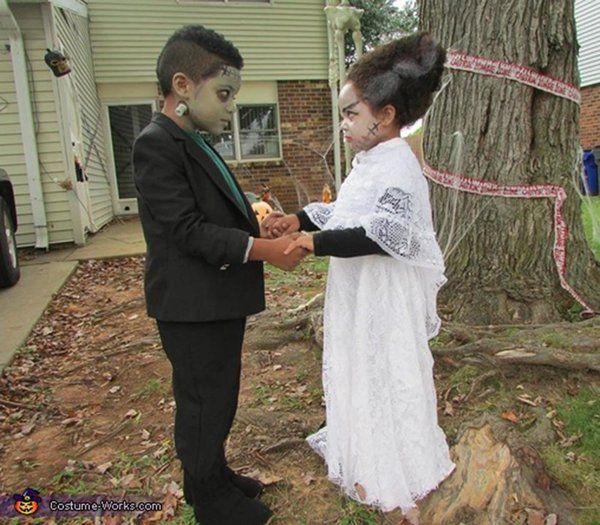 idei costume de halloween pentru familiile cu doi copii