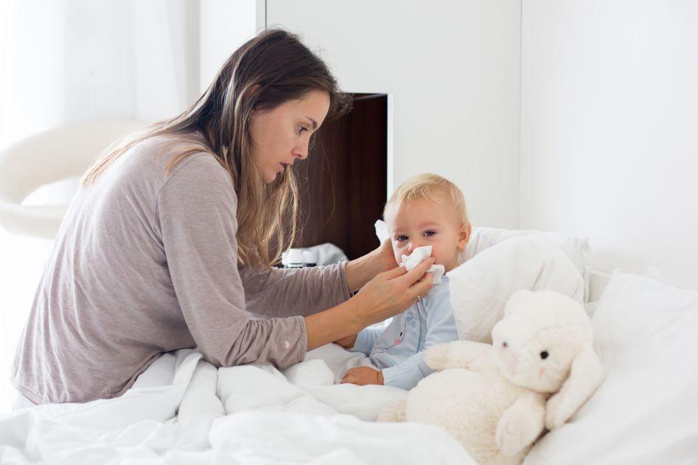 suflatul nasului la copii