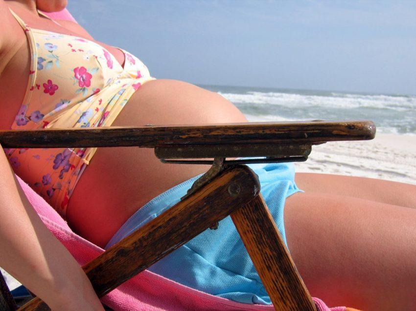 la soare în timpul sarcinii