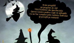 afisul spectacolului Noaptea vrajitoarelor