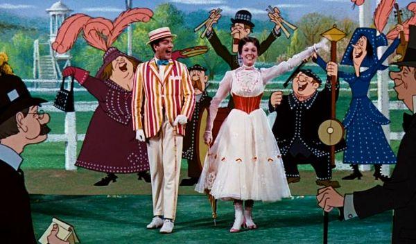 scena din filmul mary poppins