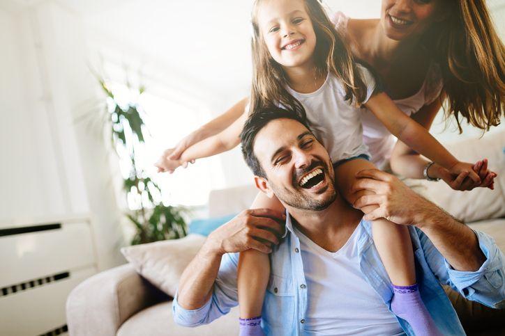 familie fericita