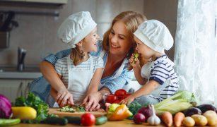 mama copii legume