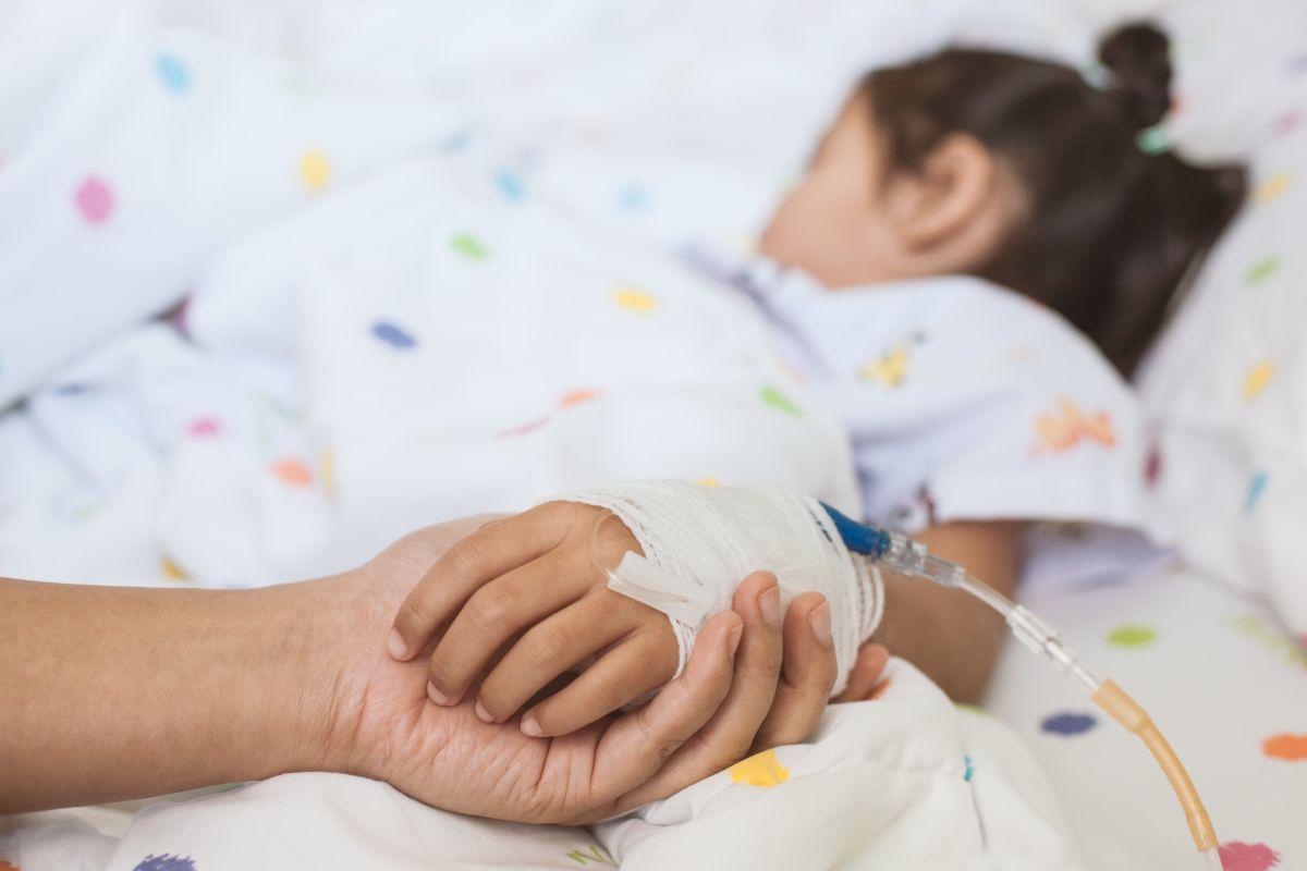 copil spital branula