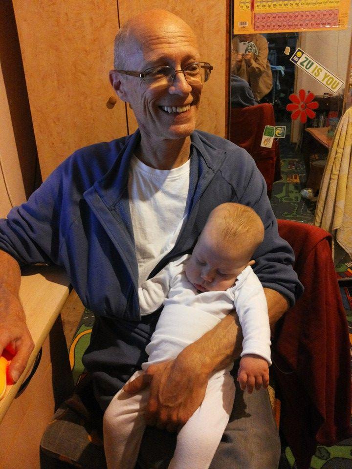 Gyuri si George, pe cand era bebelus