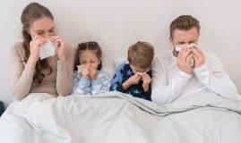 familie raceala gripa in pat batiste