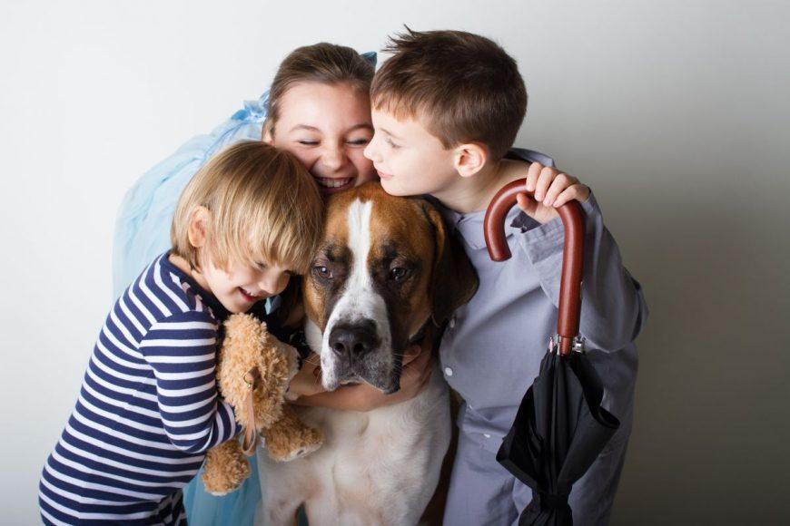 copii caine familie