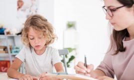 testare copil desen
