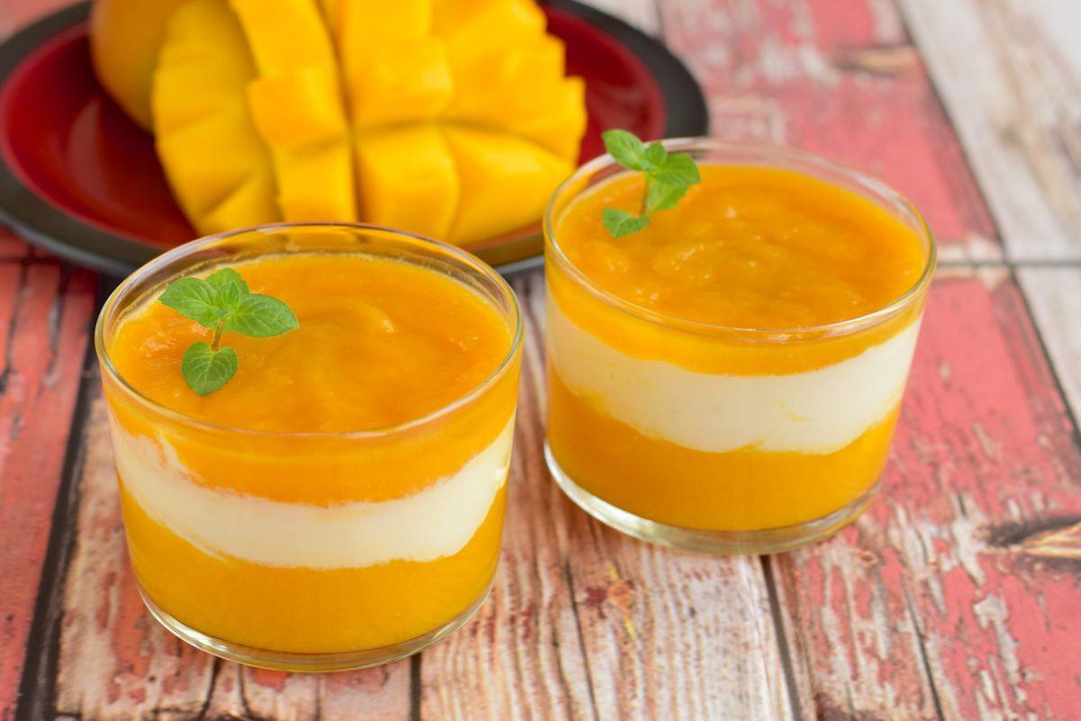 piure de mango cu branză de vaci