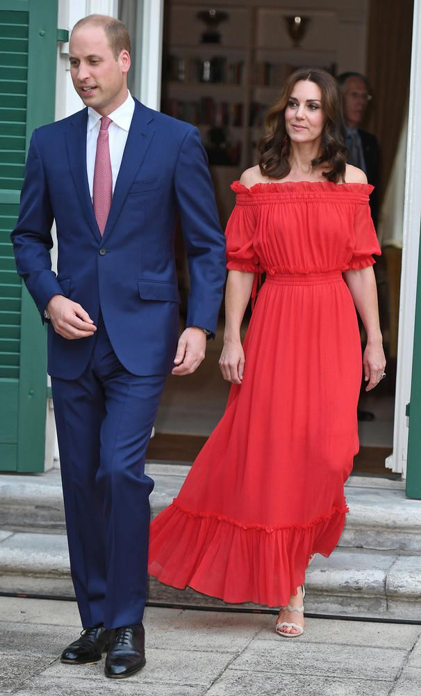 Kate Middleton in roșu