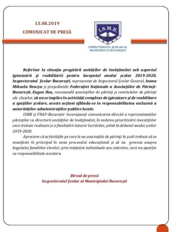 inspectoratul scolar Bucuresti