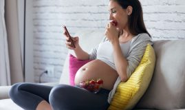 căpșuni în sarcină