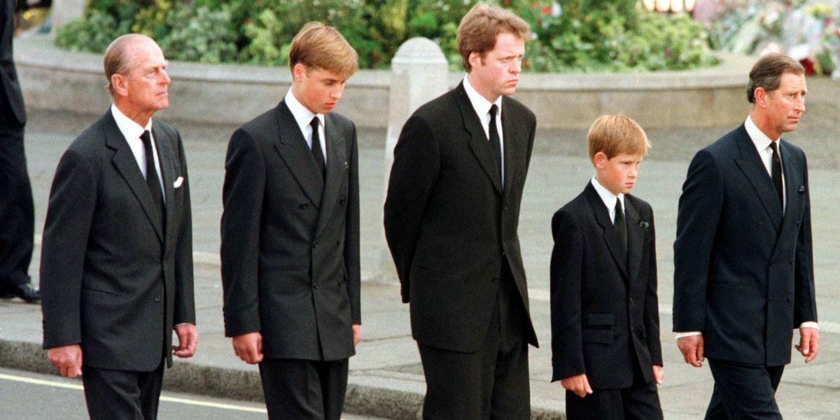 prinții la decesul prințesei