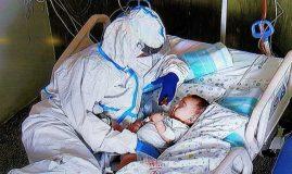 bebeluș cu complicații COVID