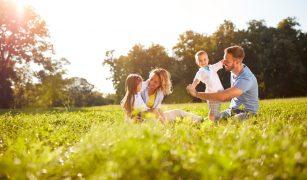 familie în natură